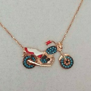 Jewelry - Turquoise Motorcycle Pendent